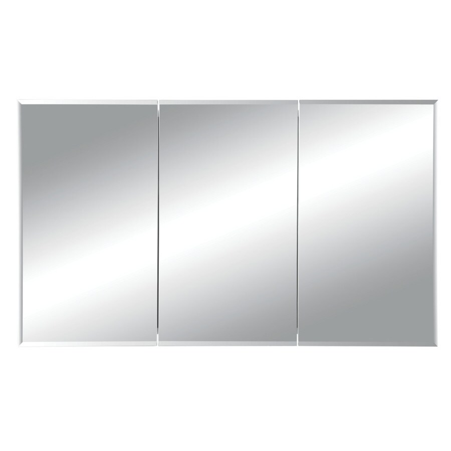 Broan Horizon 48-in x 28.25-in Rectangle Surface Mirrored Steel Medicine Cabinet
