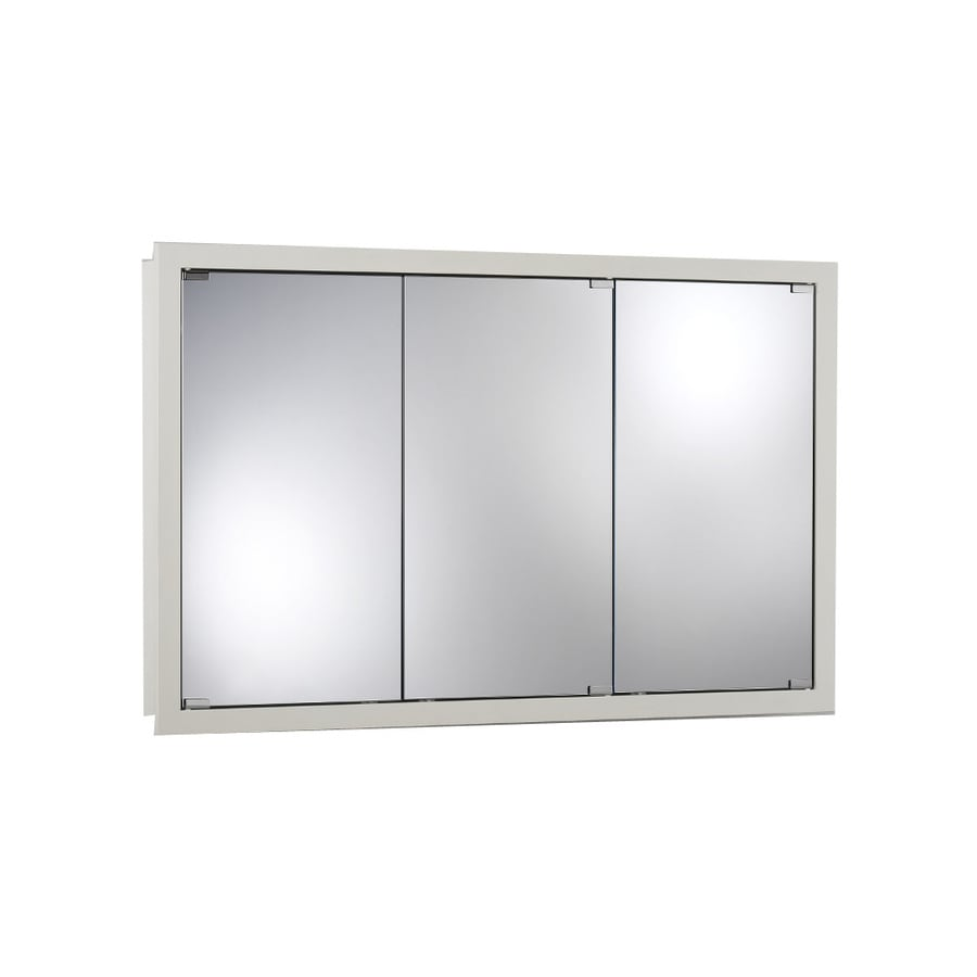 Broan Granville 48-in x 30-in Rectangle Surface Poplar Mirrored Particleboard Medicine Cabinet