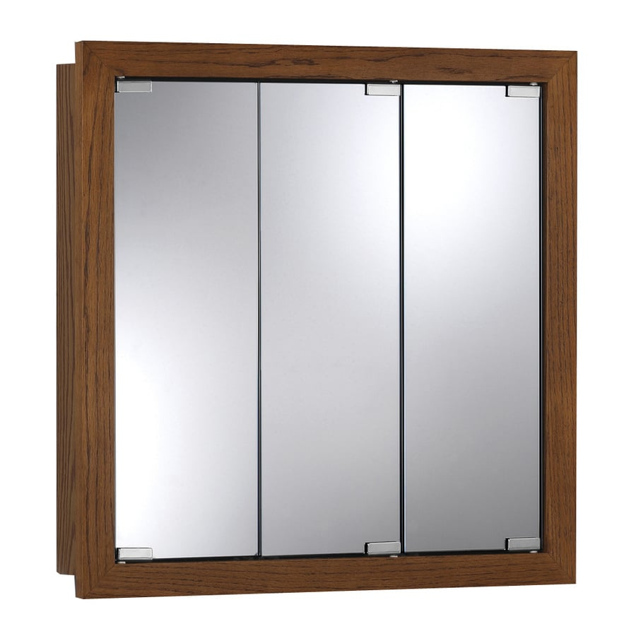 Broan Granville 24-in x 24-in Rectangle Surface Poplar Mirrored Particleboard Medicine Cabinet