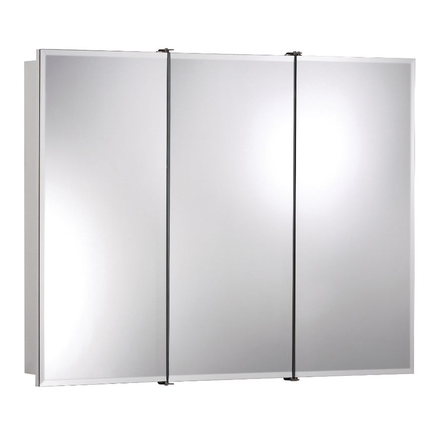 Broan Ashland 30-in x 24-in Rectangle Surface Mirrored Particleboard Medicine Cabinet