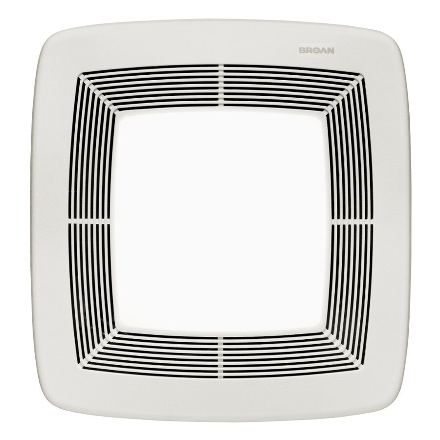 Broan 0.8-Sone 10-CFM White Polymeric Bathroom Fan with Light ENERGY STAR