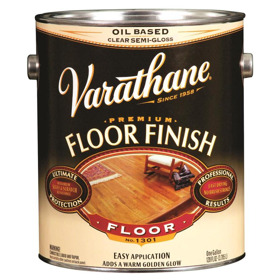 Varathane Clear Semi-Gloss Oil-Based Interior Paint (Actual Net Contents: 128-fl oz)