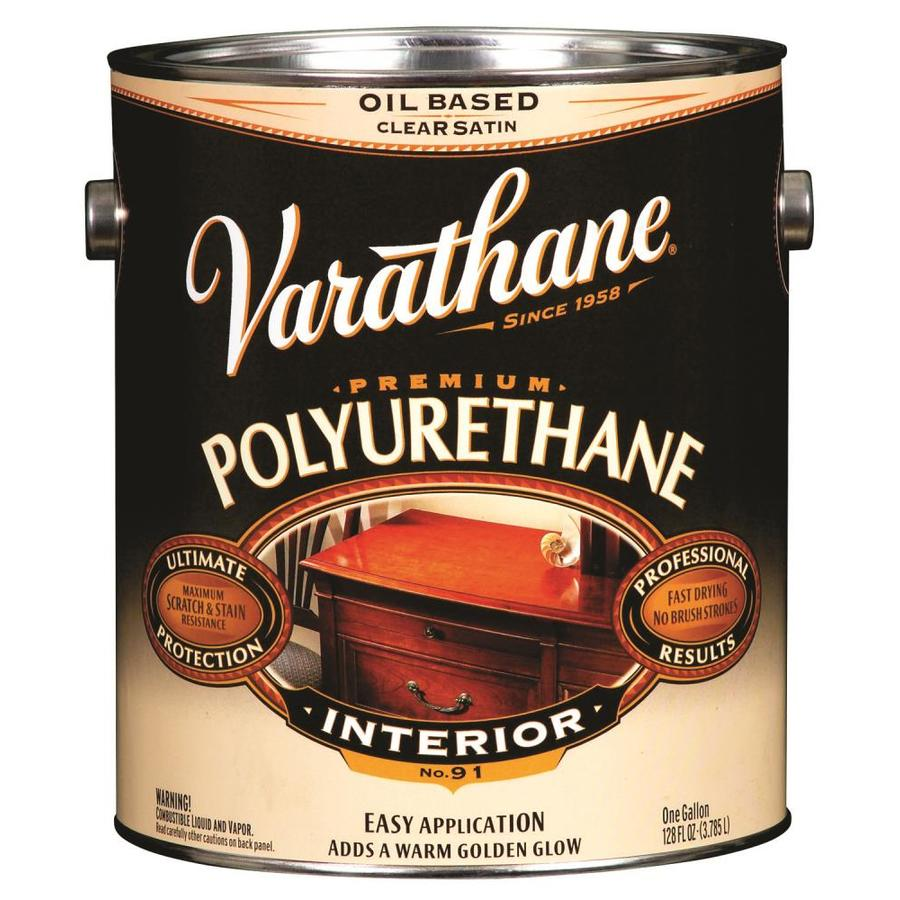 Varathane Clear Satin Oil-Based Interior Paint (Actual Net Contents: 128-fl oz)