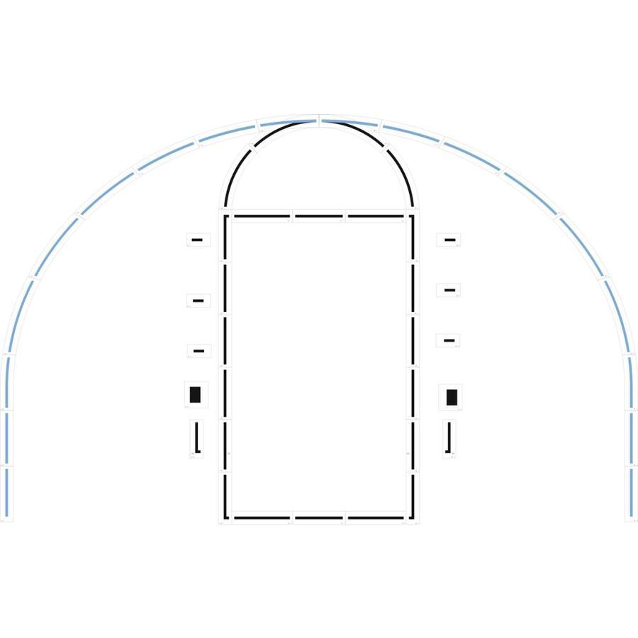 Stencil Ease Basketball Court Stencil Kit