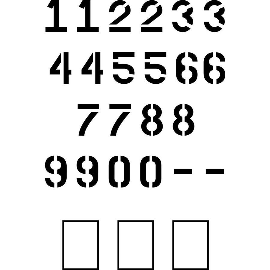 "Stencil Ease 4"" Parking Lot Number Set Stencil"