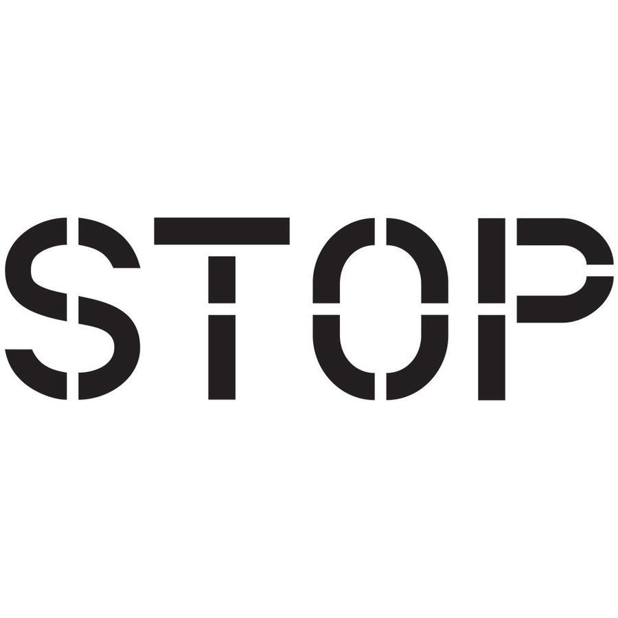"""Stencil Ease 12"""" Stop Stencil"""