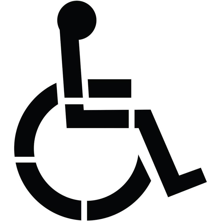 Shop Stencil Ease 36 1 Part Handicap Parking Stencil At