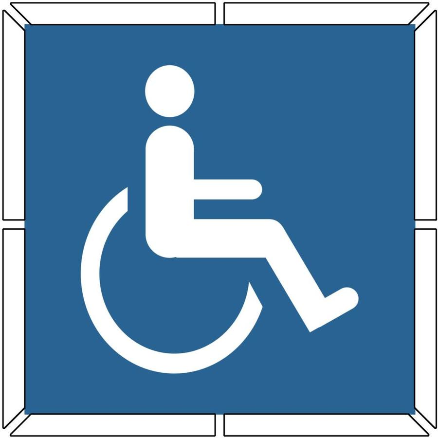 """Stencil Ease 39"""" 2-Part Handicap Parking Stencil"""