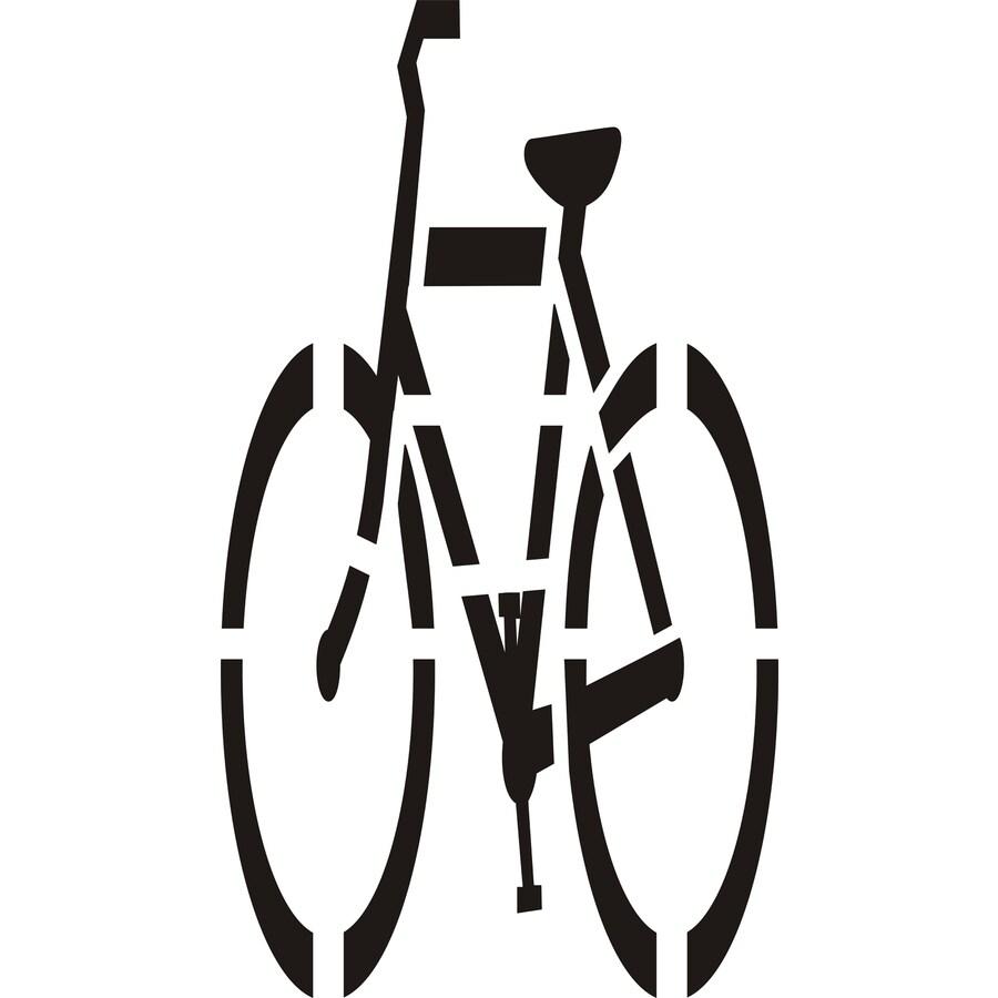 "Stencil Ease 72"" Bicycle Symbol"