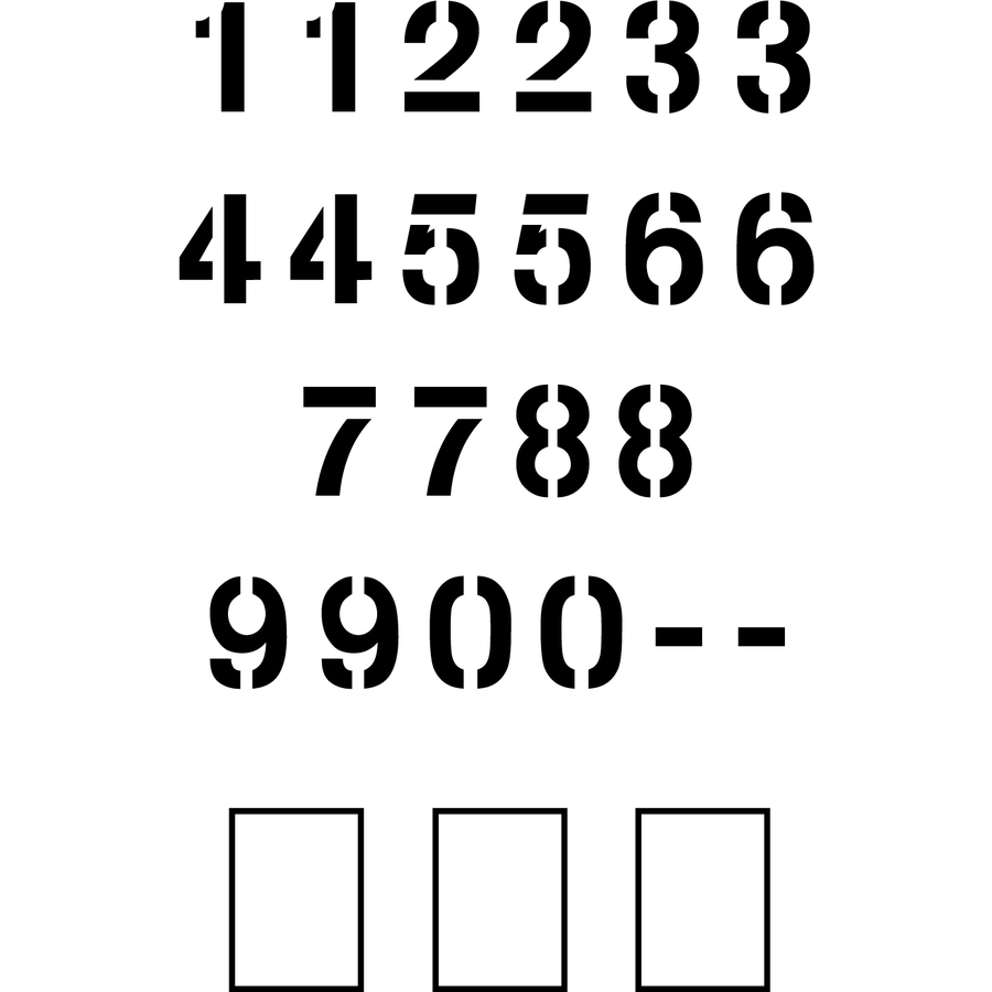 """Stencil Ease 48"""" Arial Number Set Stencil"""
