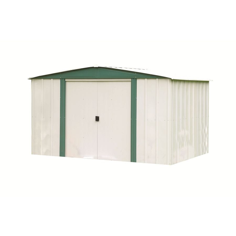 Galvanized Steel Storage Shed (Common: 8-ft x 6-ft; Interior Dimensions: 7.9-ft x 5.5-ft) Product Photo