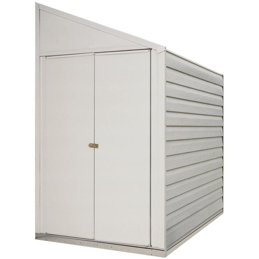 Galvanized Steel Storage Shed (Common: 4-ft x 10-ft; Interior Dimensions: 3.98-ft x 9.5-ft) Product Photo
