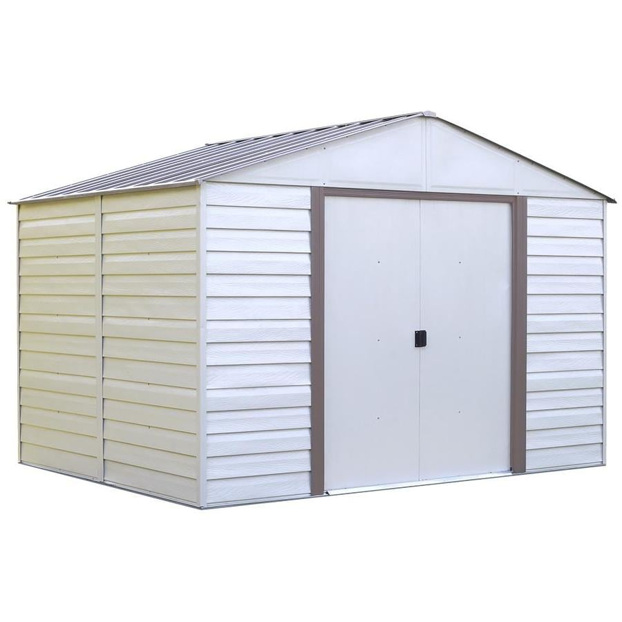 Arrow Vinyl-Coated Steel Storage Shed (Common: 10-ft x 12-ft; Interior Dimensions: 9.85-ft x 11.71-ft)