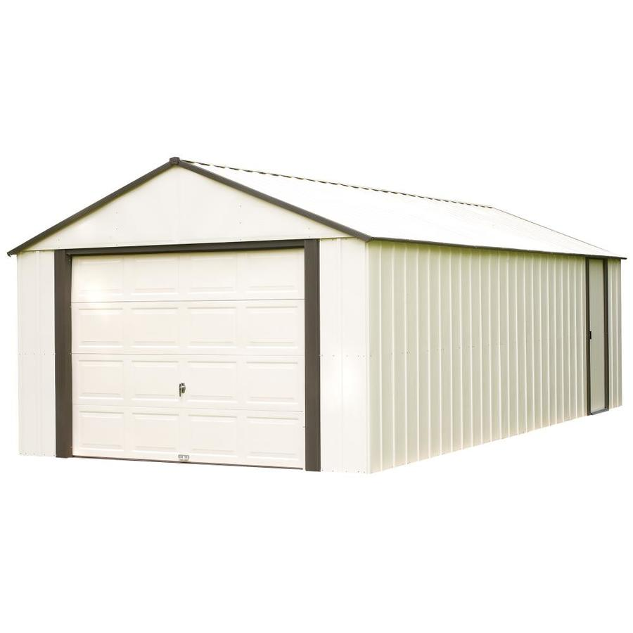 Shop arrow vinyl coated steel storage shed common 12 ft for Vinyl storage sheds