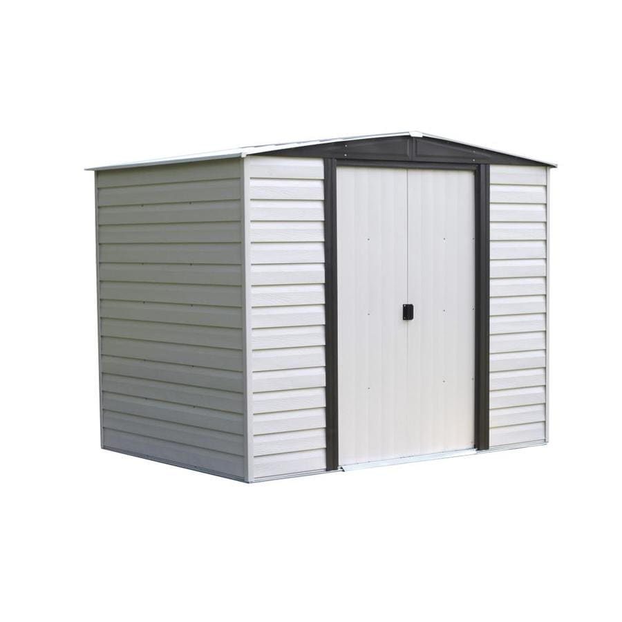 Shop arrow vinyl coated steel storage shed common 8 ft x for Vinyl storage sheds