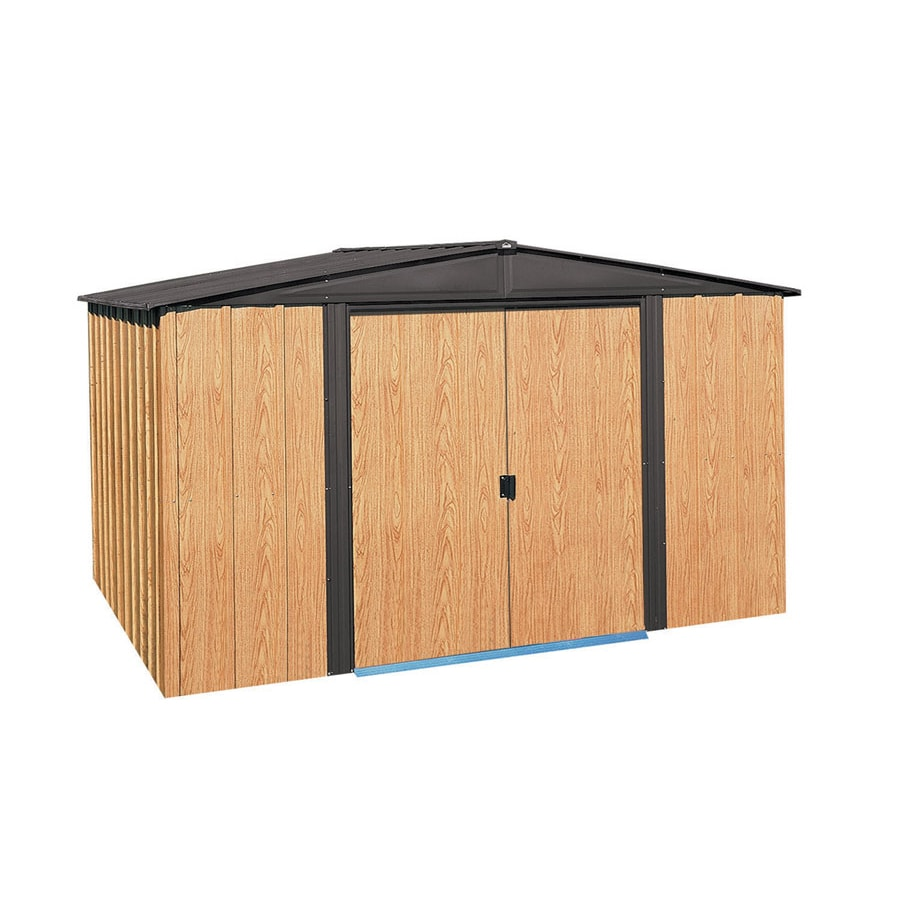 Galvanized Steel Storage Shed (Common: 10-ft x 8-ft; Interior Dimensions: 9.85-ft x 7.5-ft) Product Photo
