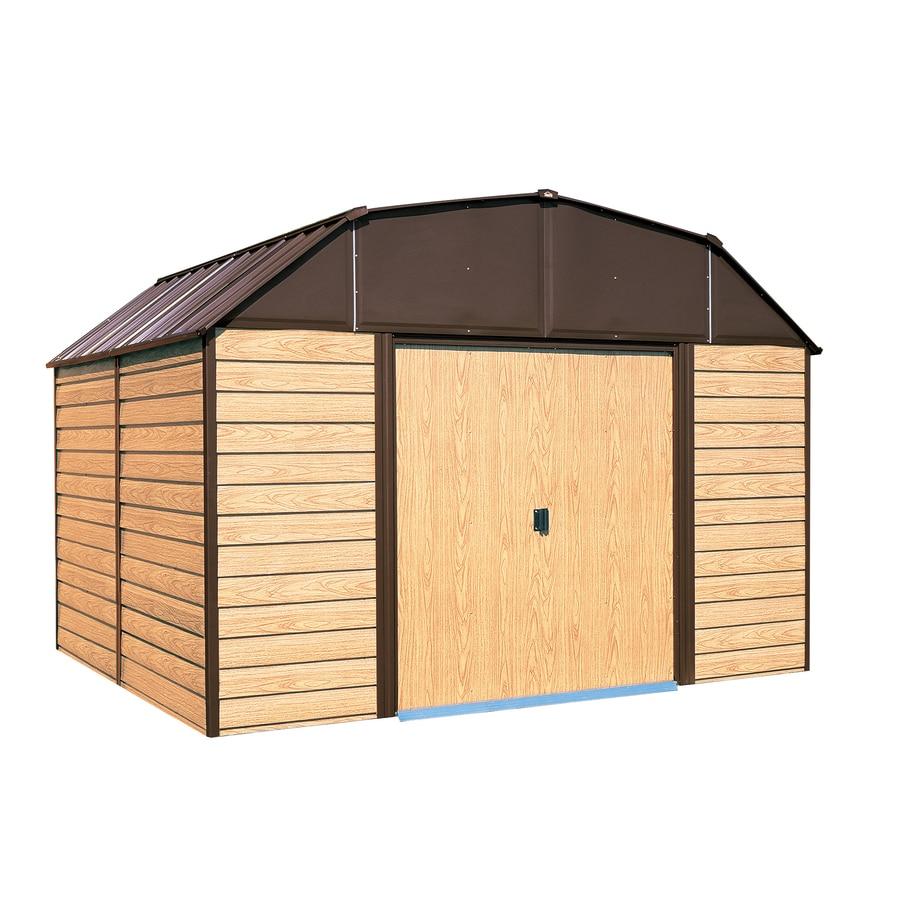 Shop arrow galvanized steel storage shed common 10 ft x for Side of the house storage shed