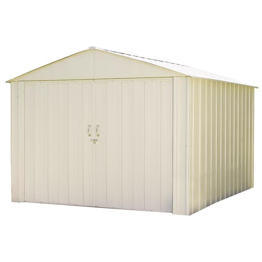 Arrow Commander Galvanized Steel Storage Shed (Common: 10-ft x 10-ft; Interior Dimensions: 9.9-ft x 10.3-ft)