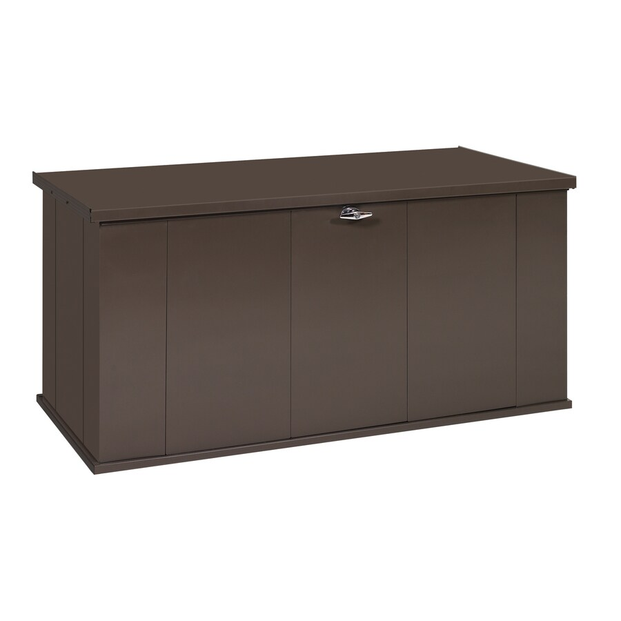 Storage 29 8 in l x 57 4 in w 135 5 gallon chocolate steel deck box