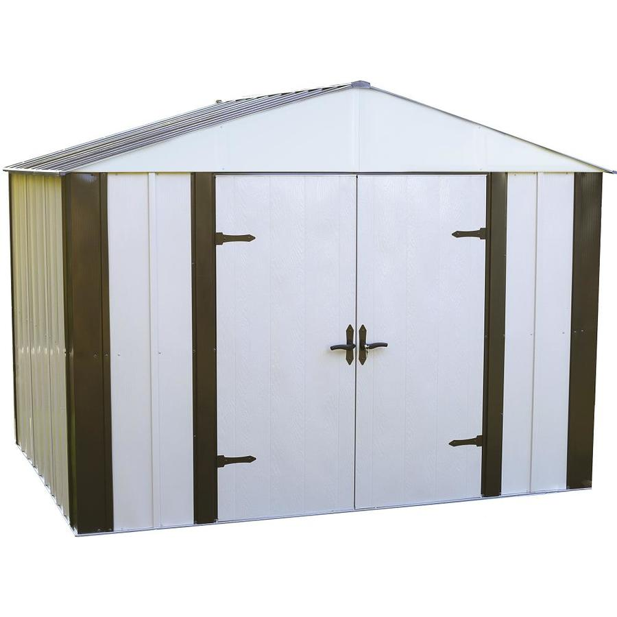 Designer™ Galvanized Steel Storage Shed (Common: 10-ft x 8-ft; Interior Dimensions: 9.85-ft x 7.86-ft) Product Photo