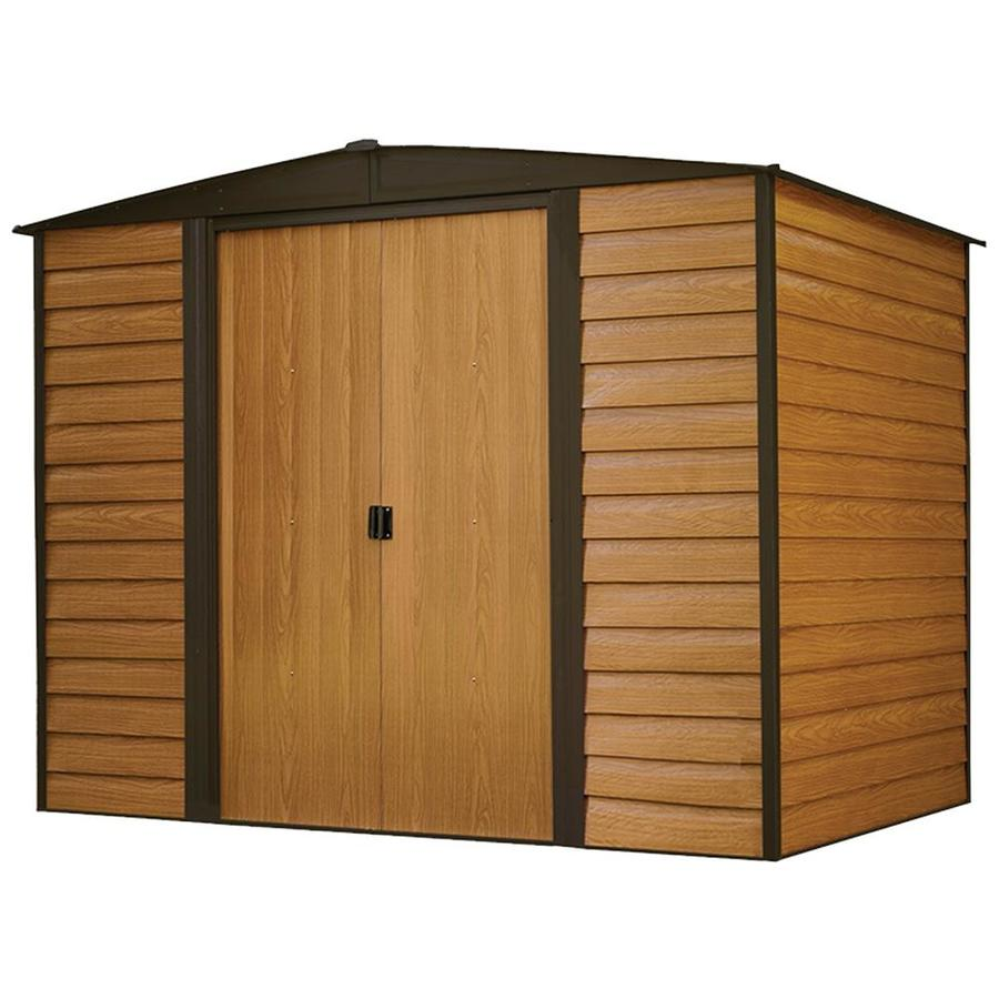 Woodridge Galvanized Steel Storage Shed (Common: 8-ft x 6-ft; Interior Dimensions: 7.9-ft x 5.5-ft) Product Photo
