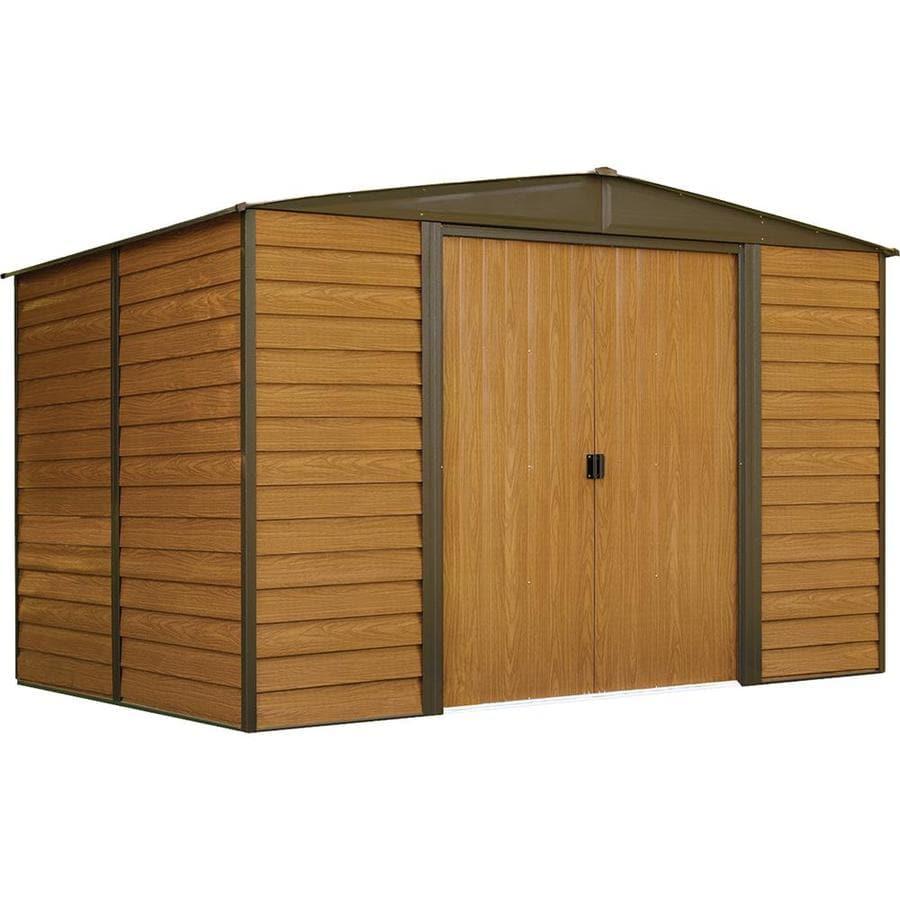 Arrow Woodridge Galvanized Steel Storage Shed (Common: 10-ft x 8-ft; Interior Dimensions: 9.85-ft x 7.5-ft)