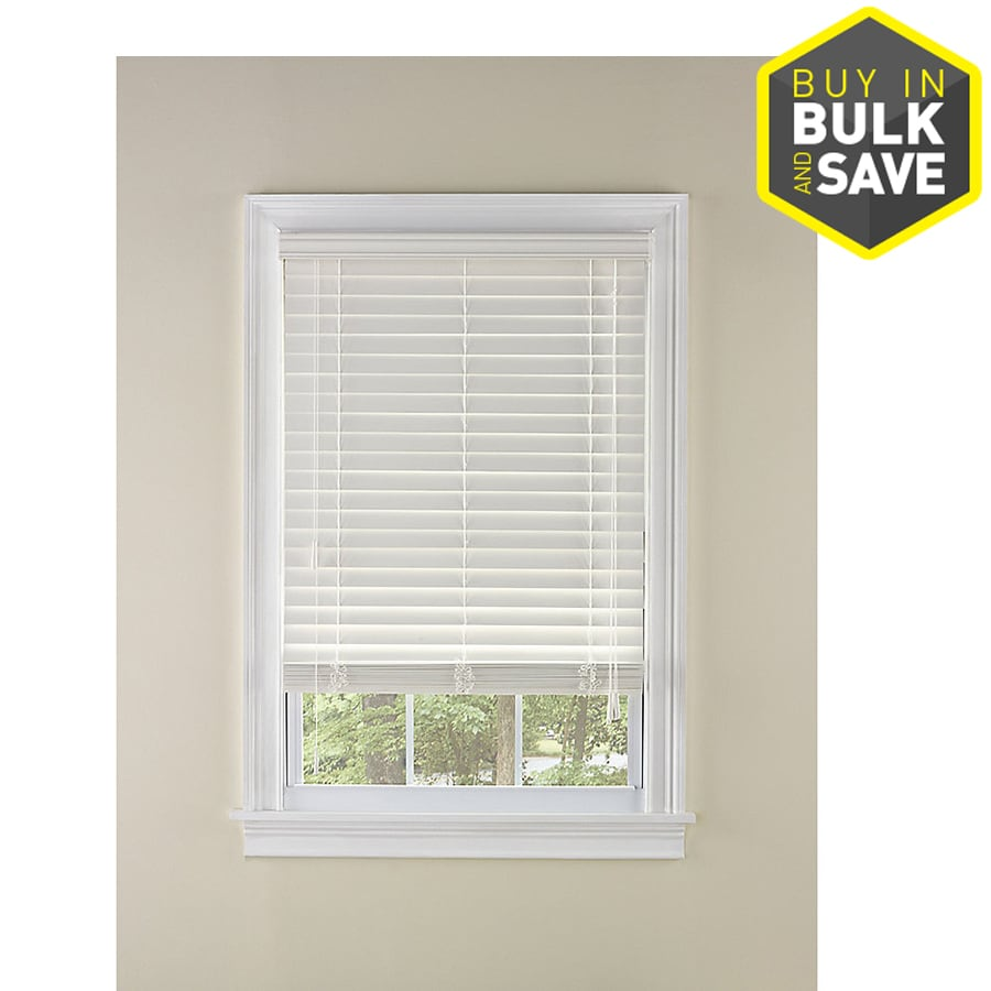 Custom Size Now by Levolor 2-in White Faux Wood Room Darkening Plantation Blinds (Common 72-in; Actual: 71.5-in x 64-in)
