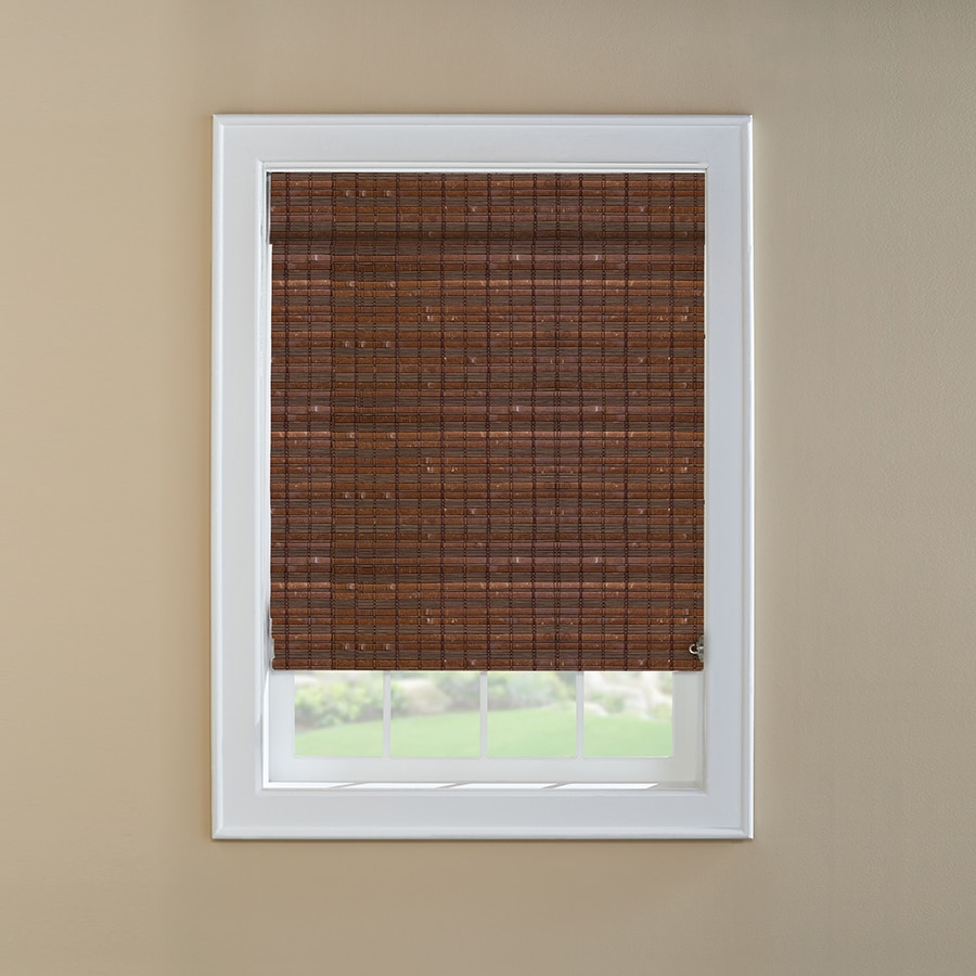Custom Size Now by Levolor Cinnamon Light Filtering Woven Wood Natural Roman Shade (Common 36-in; Actual: 35.5-in x 72-in)