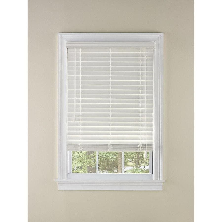 Custom Size Now by Levolor 2-in White Faux Wood Room Darkening Plantation Blinds (Common 65-in; Actual: 64.5-in x 64-in)