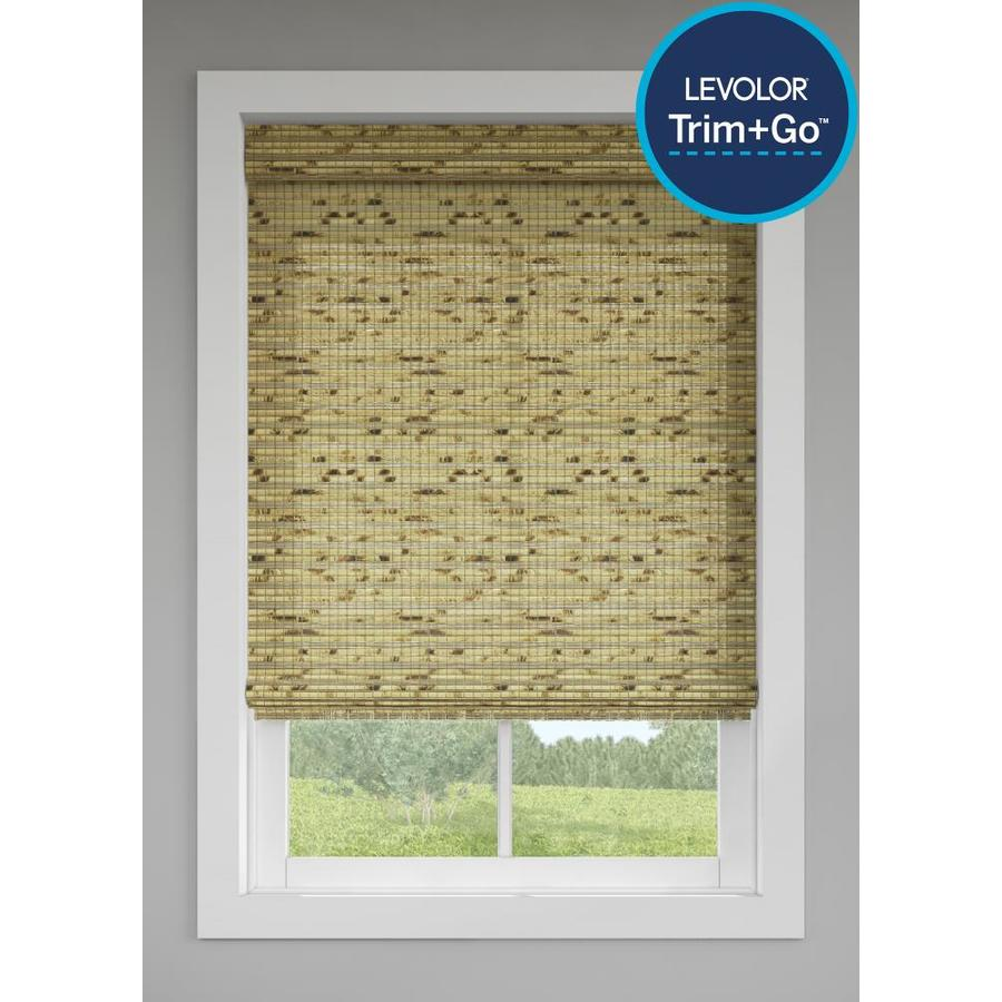 LEVOLOR Trim+Go 12 in x 12 in Natural Bamboo Light Filtering Cordless Roman  Shade