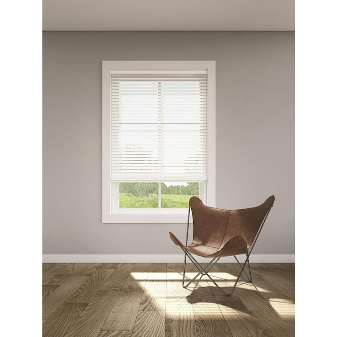 Faux Wood Blind Cordless Room Darkening Privacy Window Shade in 4 Colors
