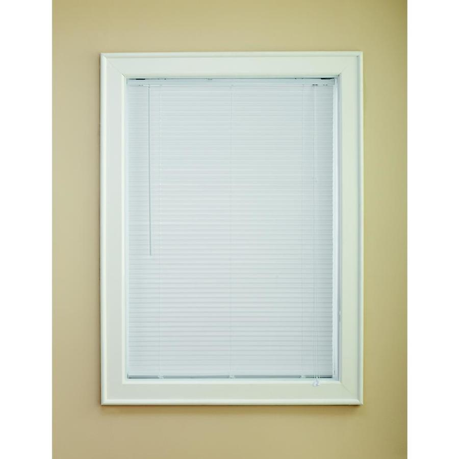 Custom Size Now by Levolor 1-in White Vinyl Room Darkening Mini-Blinds (Common 31-in; Actual: 30.5-in x 64-in)