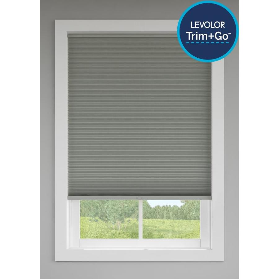Custom Size Now by Levolor Graphite Room Darkening Cordless Cellular Shade (Common 24-in; Actual: 23.5-in x 72-in)