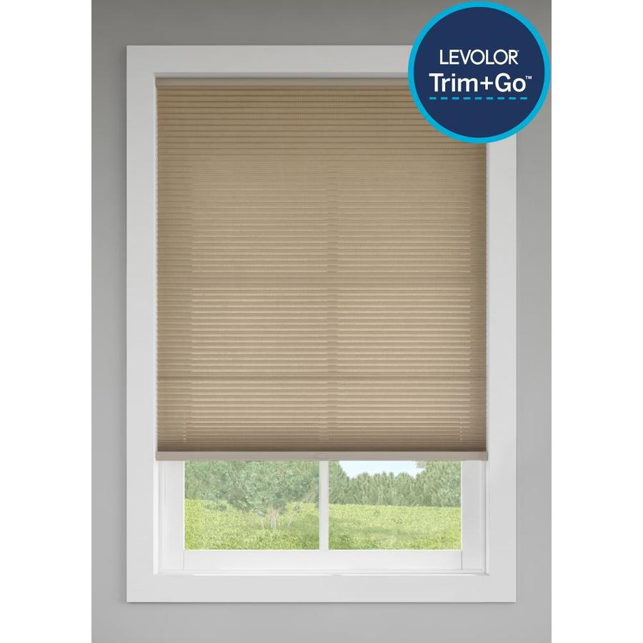 Custom Size Now by Levolor Toffee Light Filtering Cordless Cellular Shade (Common 60-in; Actual: 59.5-in x 72-in)