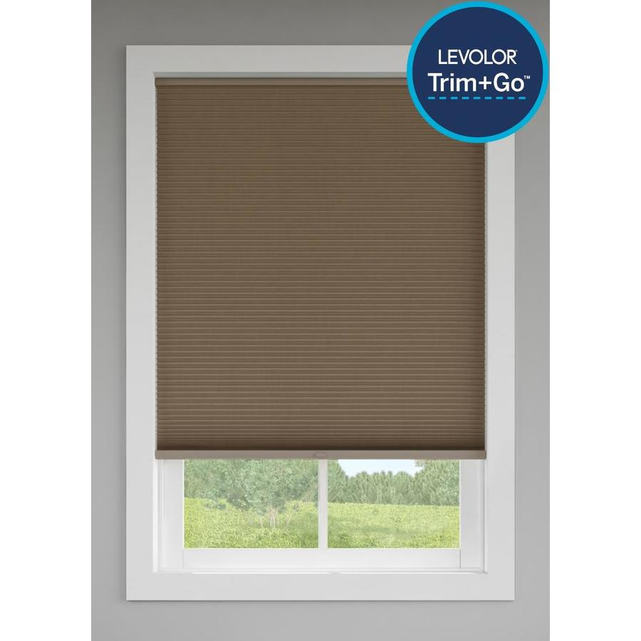 Custom Size Now by Levolor Toffee Room Darkening Cordless Cellular Shade (Common 60-in; Actual: 59.5-in x 72-in)