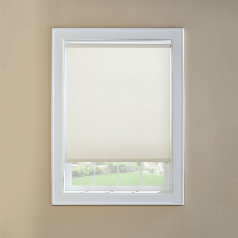 Custom Size Now by Levolor White Light Filtering Cordless Vinyl Roller Shade (Common 73-in; Actual: 72.5-in x 72-in)