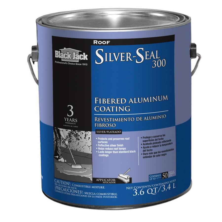 BLACK JACK Silver Seal 300 Fibered Aluminum Roof Coating 3.6-Quart Aluminum Reflective Roof Coating (3-Year Limited Warranty)