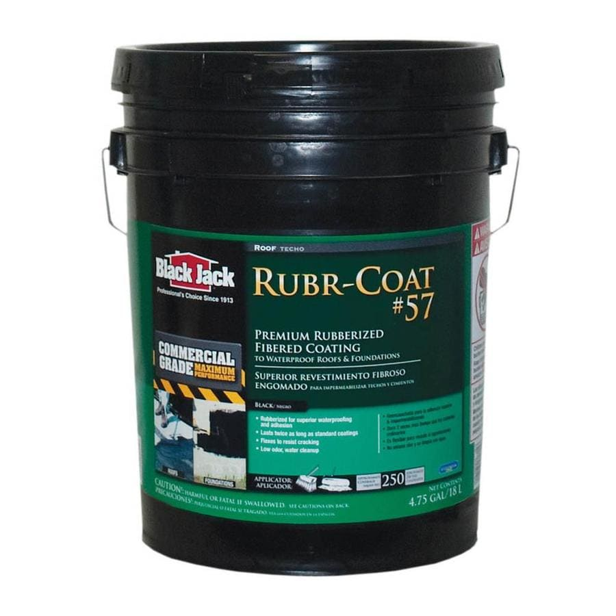 BLACK JACK 4.75-Gallon Fibered Waterproof Roof Sealant