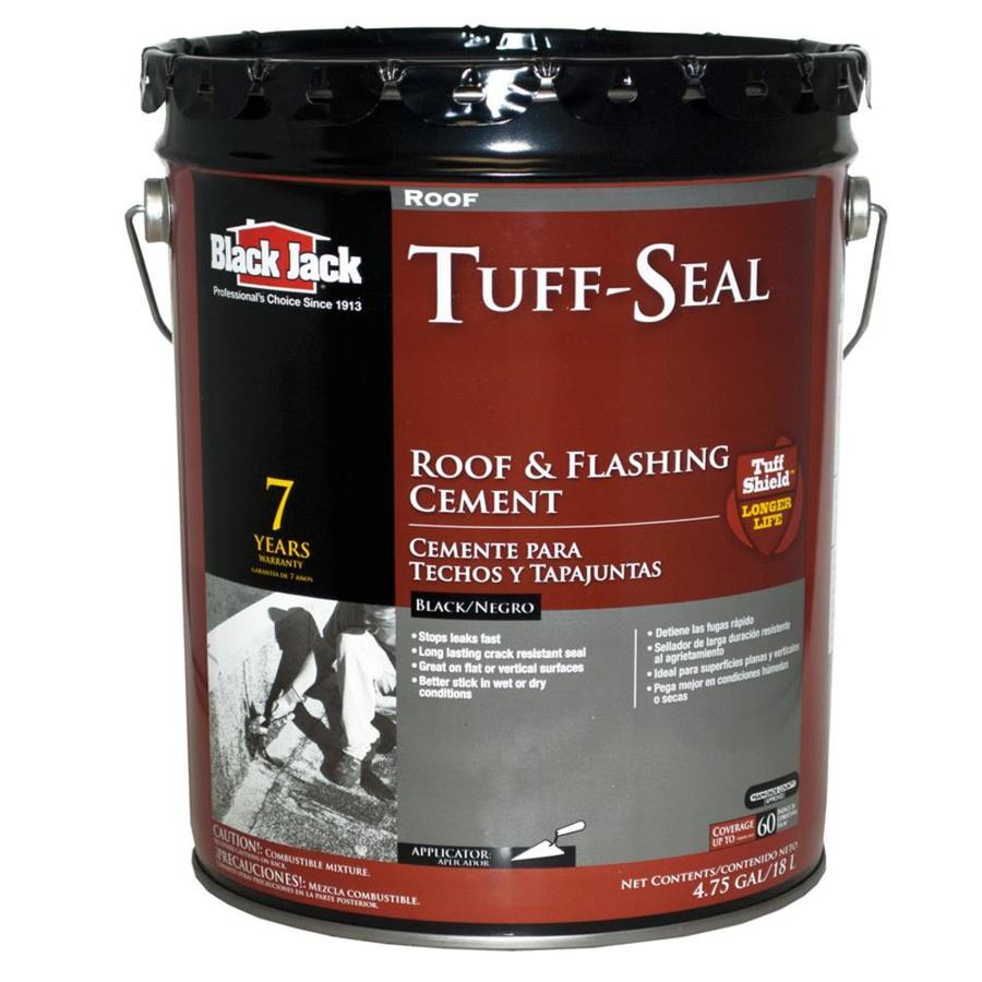 BLACK JACK 4.75-Gallon Fibered Waterproof Cement Roof Sealant