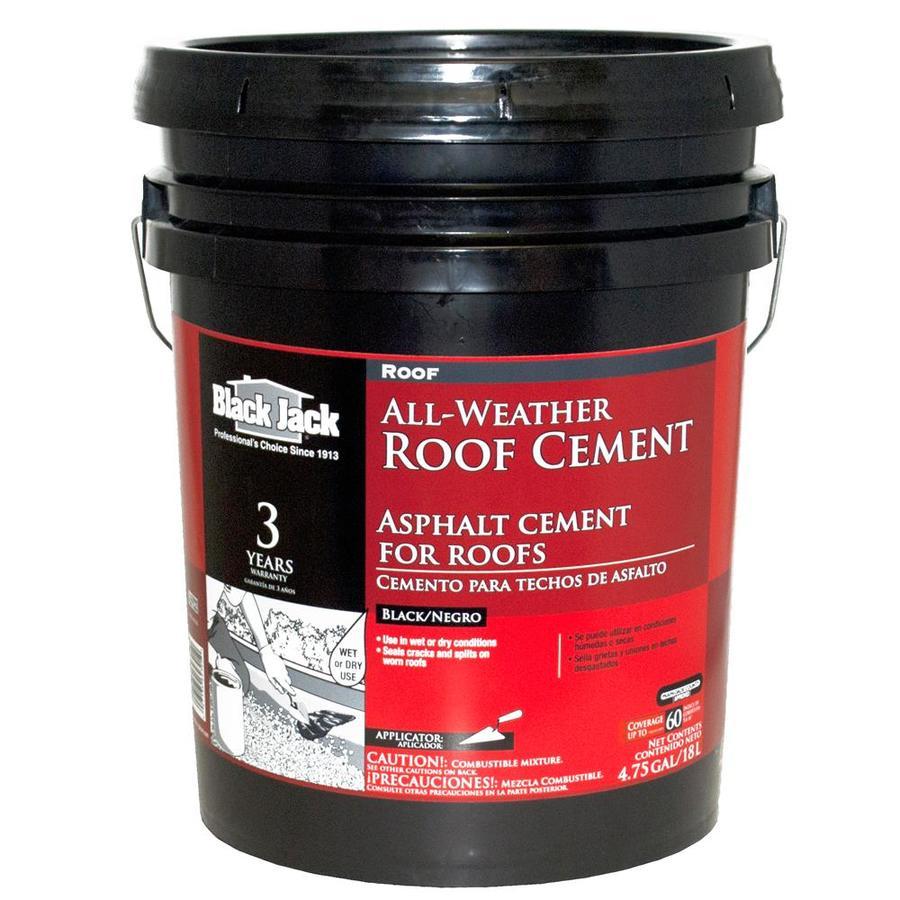 BLACK JACK 4.75-Gallon Fibered Waterproofer Cement Roof Sealant