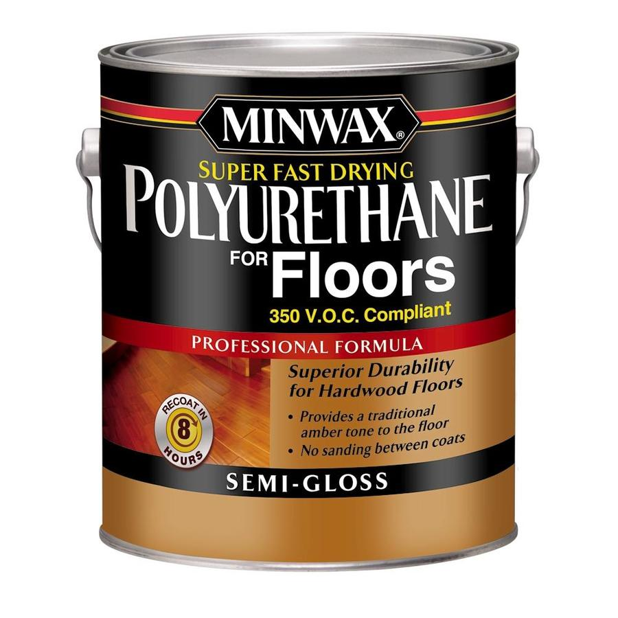 Minwax Poly for Floors Semi-Gloss Base 128 fl oz Polyurethane