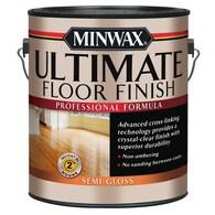 Minwax Ultimate Floor Finish Semi-Gloss Water 128-fl Deals