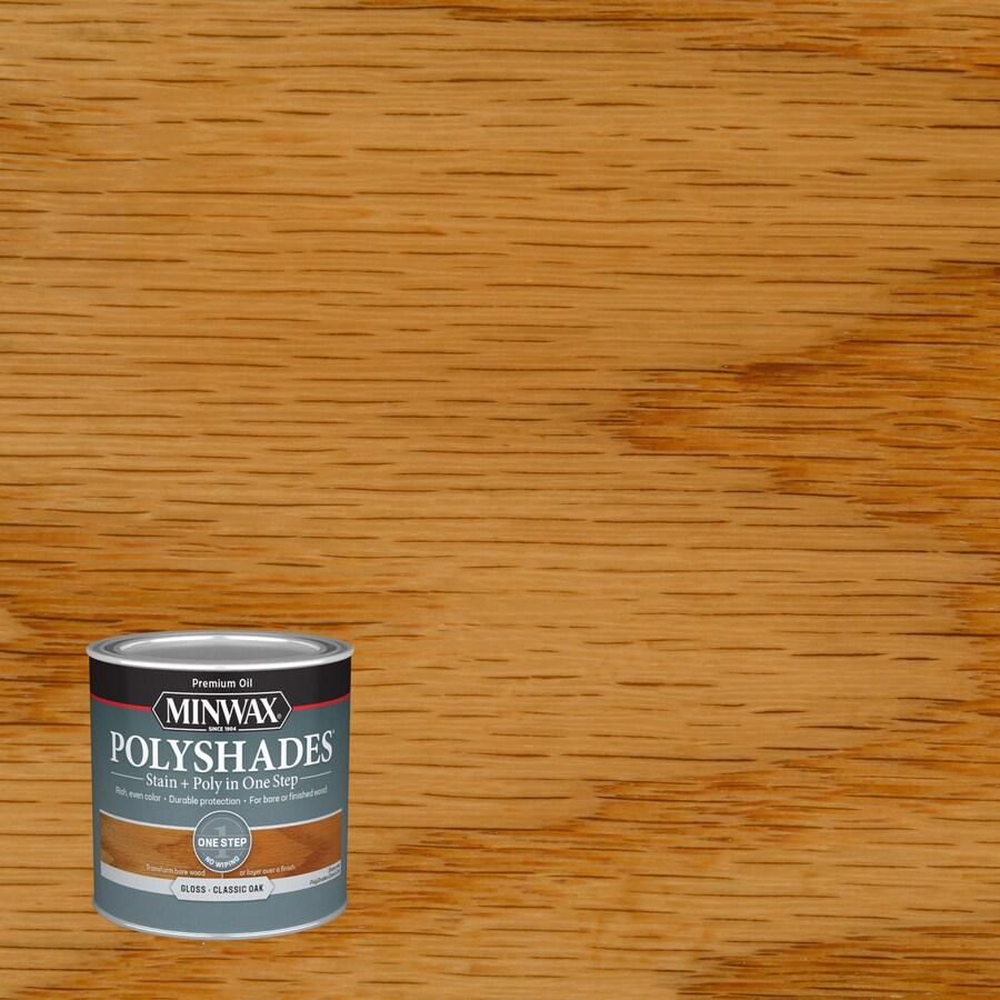 Minwax Polyshades 8-fl oz Classic Oak Gloss Oil-Based Interior Stain