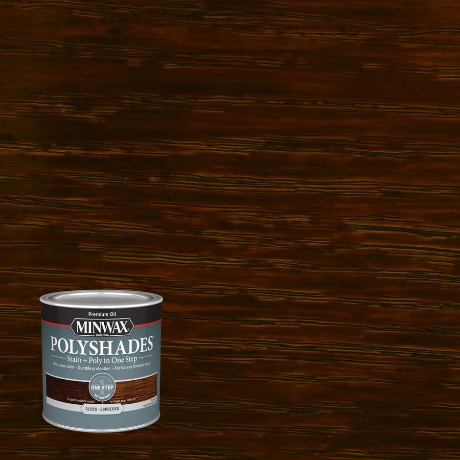 Minwax Polyshades 8-fl oz Espresso Gloss Oil-Based Interior Stain