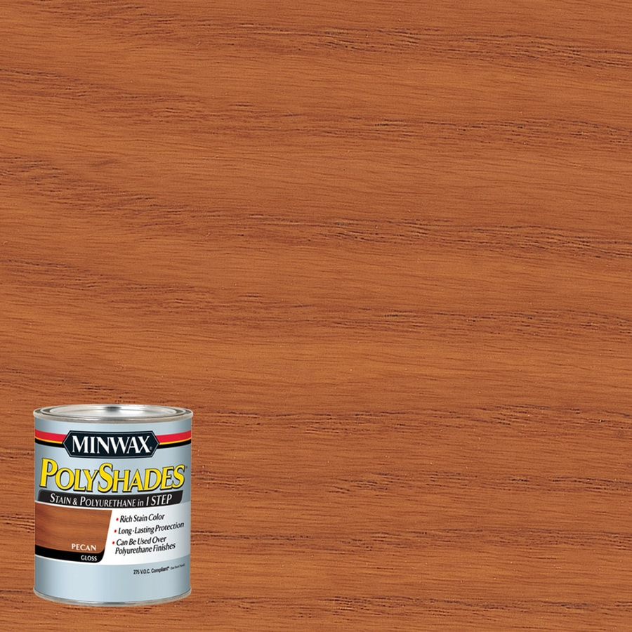 Minwax Polyshades 8-fl oz Pecan Gloss Oil-Based Interior Stain
