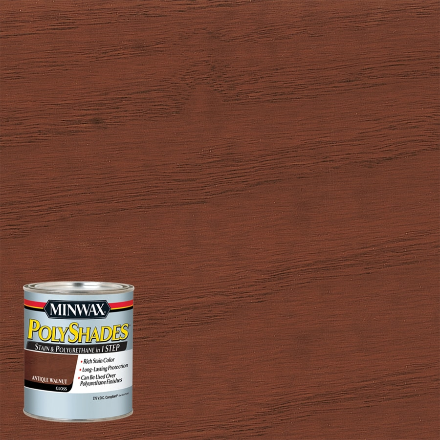 Minwax Polyshades 8-fl oz Antique Walnut Gloss Oil-Based Interior Stain