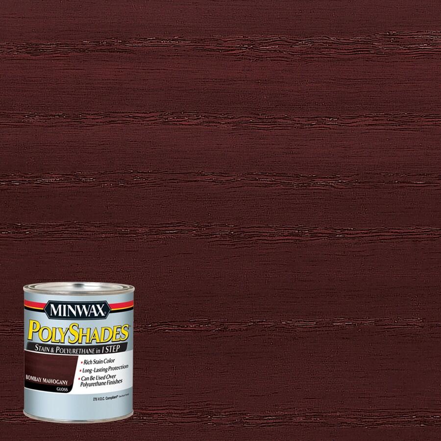 Minwax Polyshades 8-fl oz Bombay Mahogany Gloss Oil-Based Interior Stain