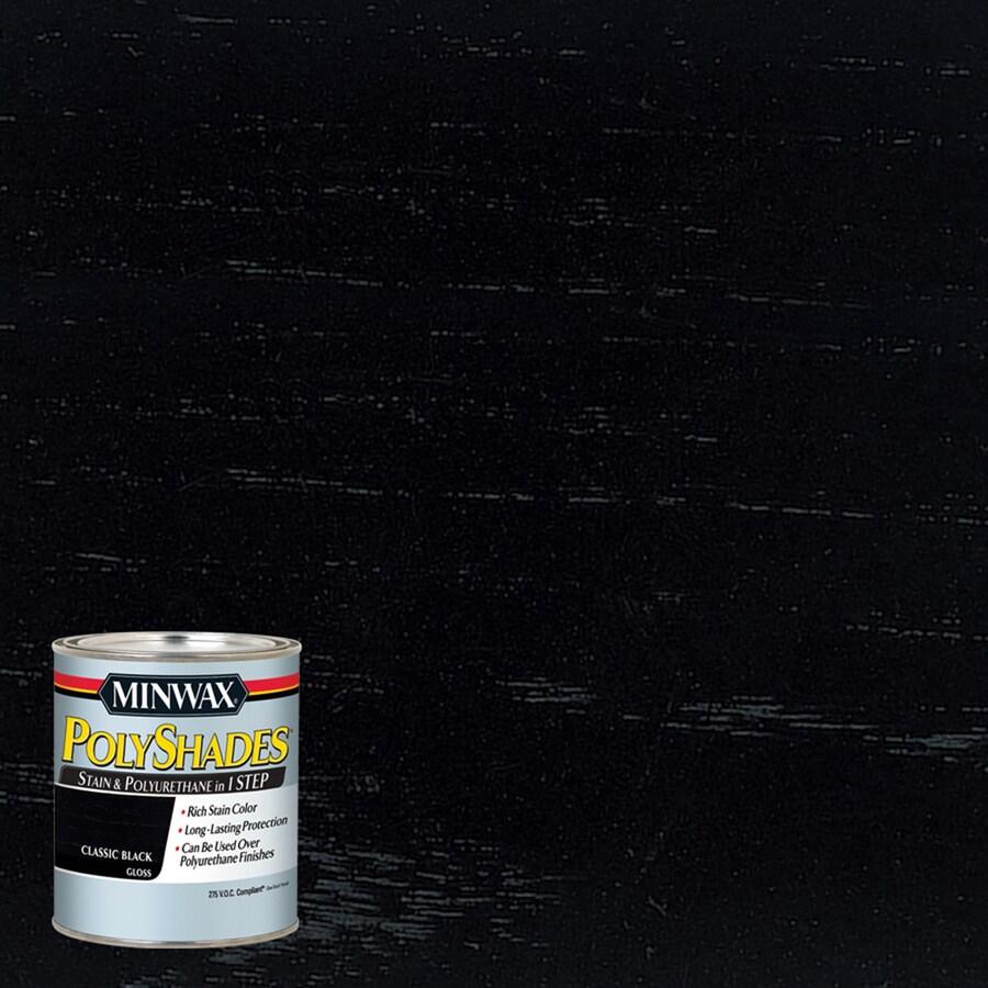 Minwax Polyshades 8-fl oz Classic Black Gloss Oil-Based Interior Stain