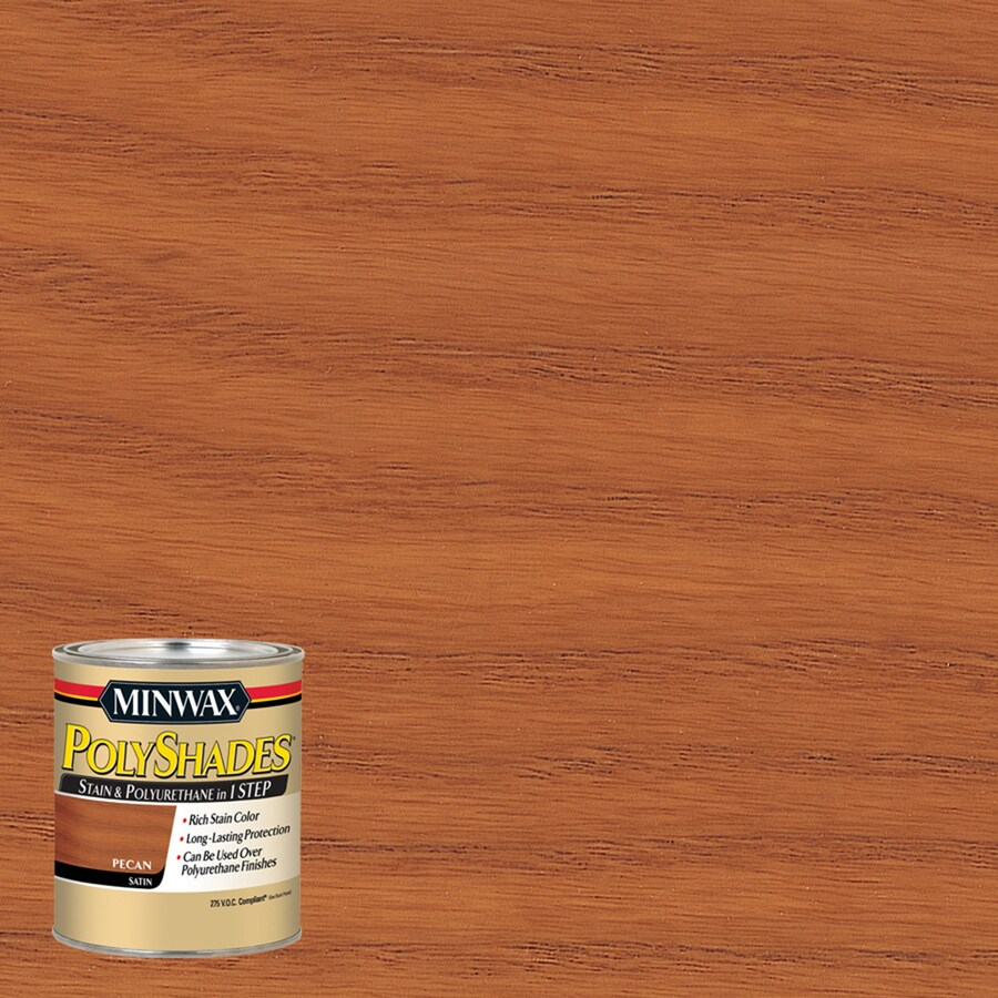 Minwax Polyshades 8-fl oz Pecan Satin Oil-Based Interior Stain