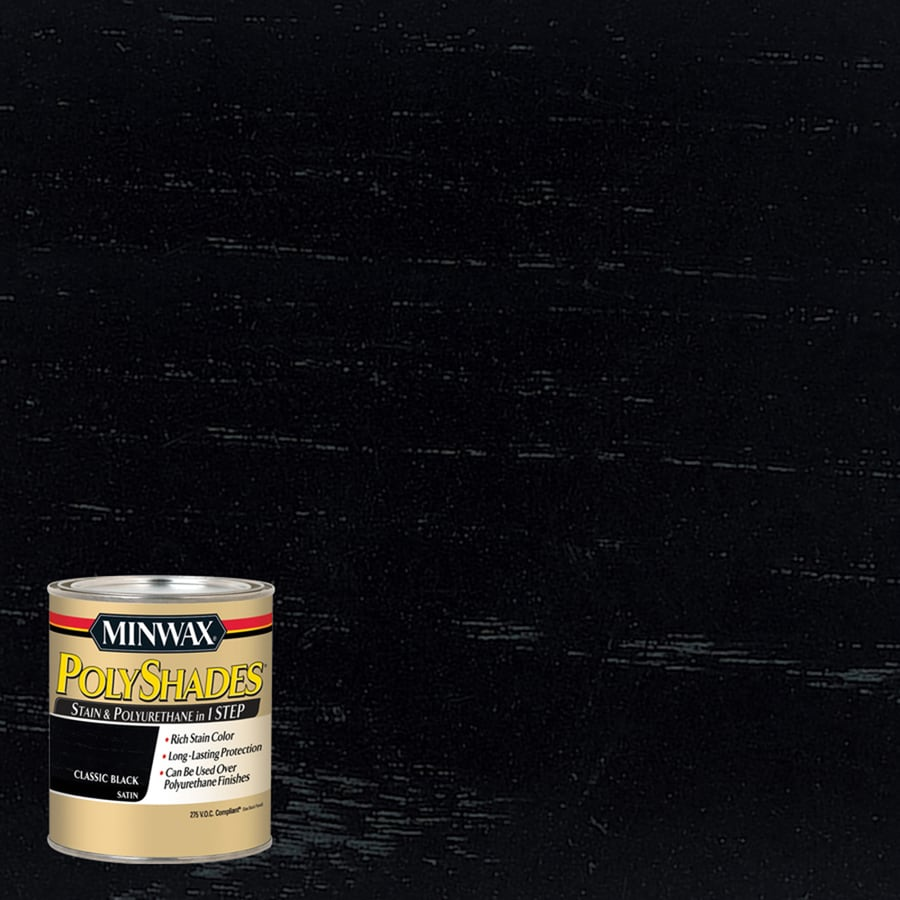 Minwax Polyshades 8-fl oz Classic Black Satin Oil-Based Interior Stain